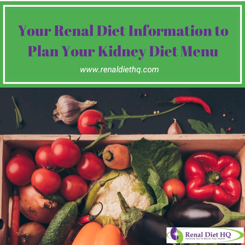 Kidney Diet Menu