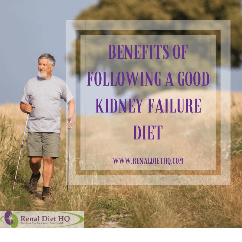 Benefits of Following a Good Kidney Failure Diet