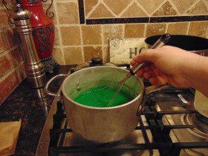 green gelatin dessert