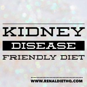 kidney disease friendly diet