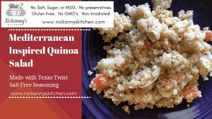 Mediterranean Inspired Quinoa Salad – ZYD
